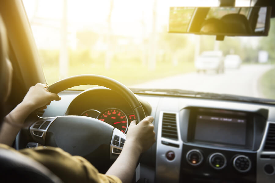 Final rec driving woman car