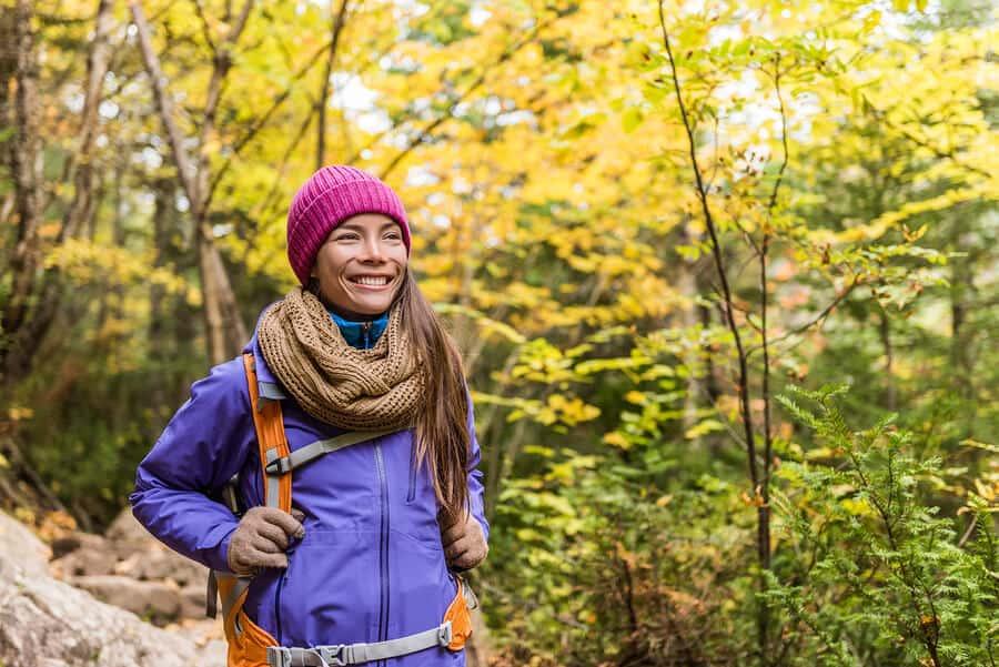 Happy price walking nature